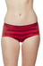 Icebreaker W's Sprite Hot Pants Oxblood/Rocket/Stripe